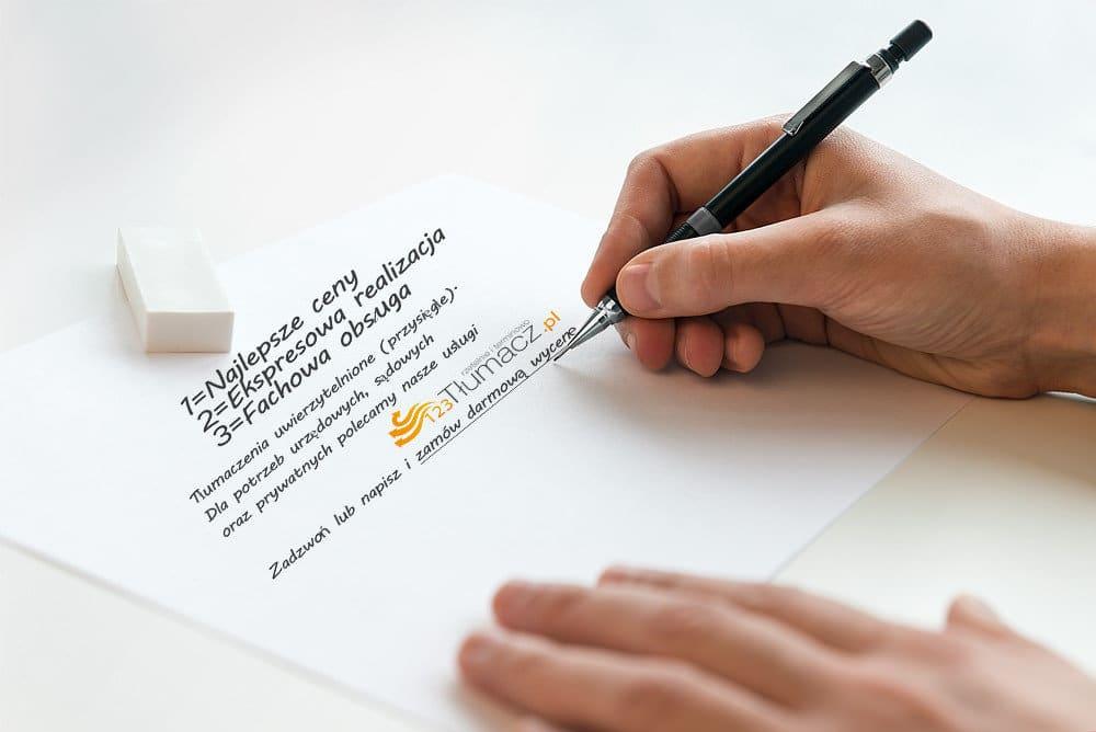 Tłumaczenia umów język niemiecki √ Biuro Tłumaczeń 123Tlumacz.pl