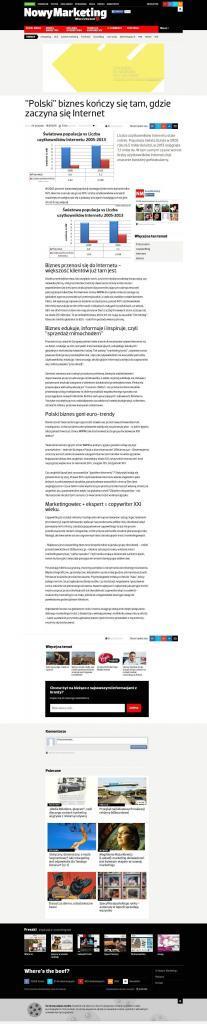 """""""Polski"""" biznes kończy się tam, gdzie zaczyna się Internet"""