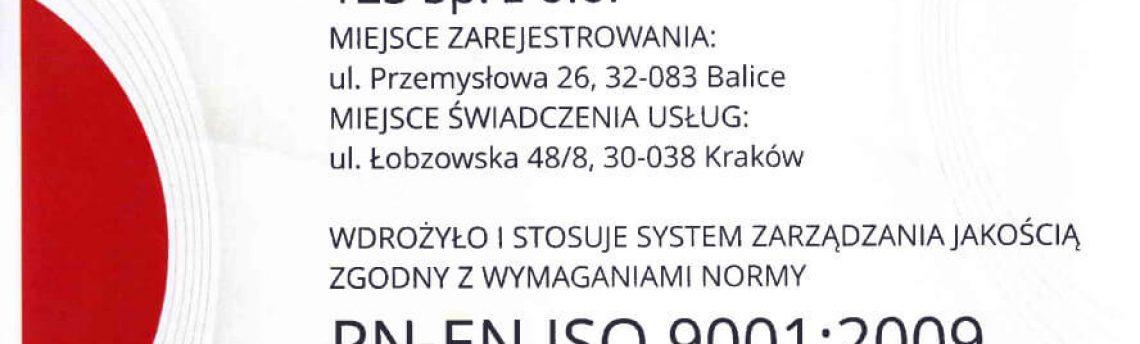Tłumaczenia dla firm – Certyfikat PN-EN ISO-9001:2009