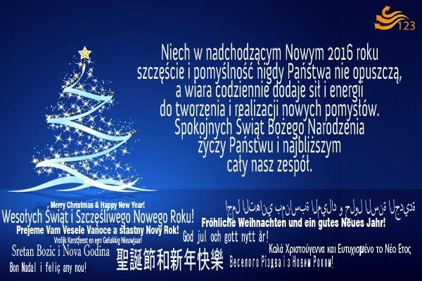 Spokojnych Świąt Bożego Narodzenia życzy Państwu i najbliższym cały zespół 123tłumacz.pl