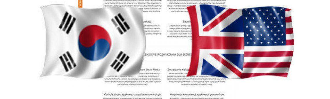 Tłumaczenia angielski – koreański