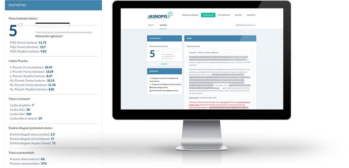 Aplikacja Jasnopis przygotowana przez naukowców z Uniwersytetu SWPS i PAN