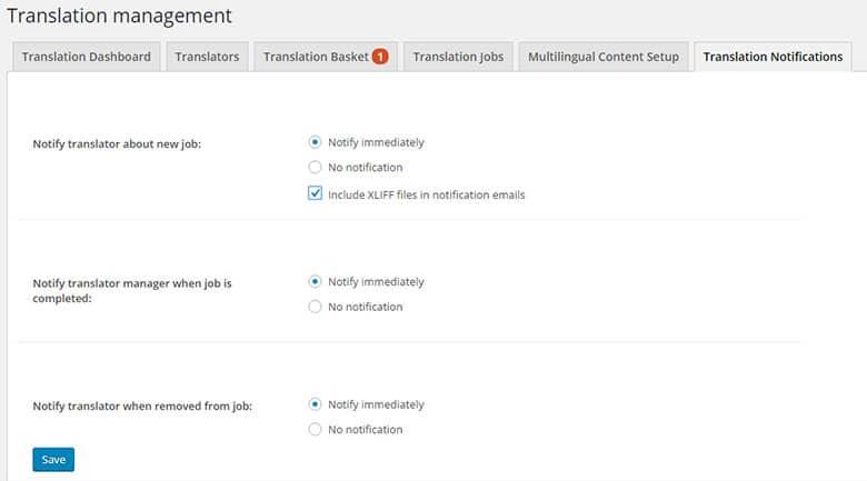 zarządzanie stroną tłumaczenia