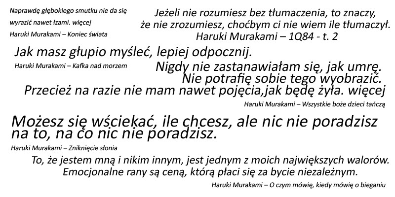 Haruki Murakami cytaty