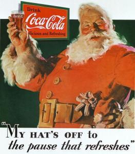 Coca-Cola reklama z wizerunkiem Św.Mikołaja