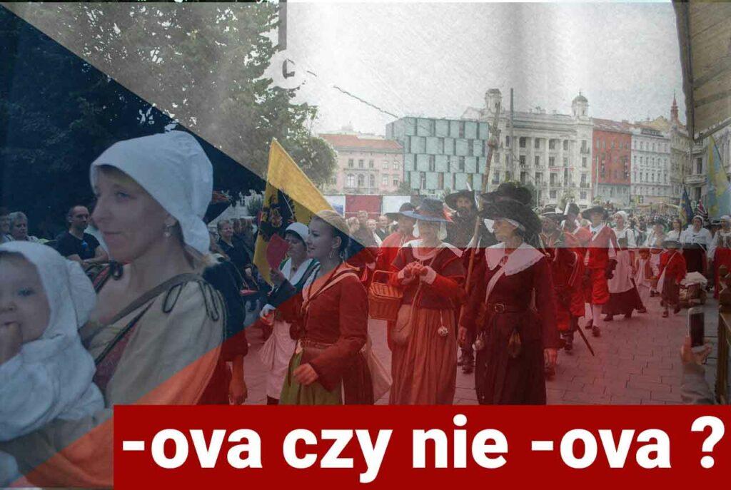 czeskie końcówki żeńskie